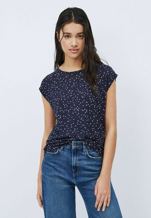 CHERRY - Print T-shirt - blue