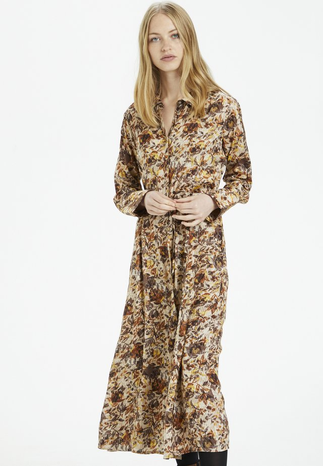 AUGUSTACRMARGOT - Shirt dress - brown fall leafs