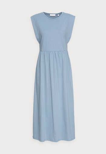 DRESS - Jersey dress - smoked blue