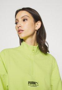 Puma - HALF ZIP CREW - Sweatshirt - sharp green - 3