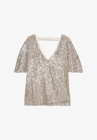 Wallis - SEQUIN SLEEVE - Bluse - champagne - 0
