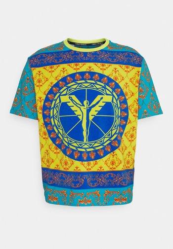 COLOURS UNISEX - Print T-shirt - petrol