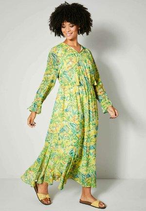 Maxi dress - yellow/green/orange