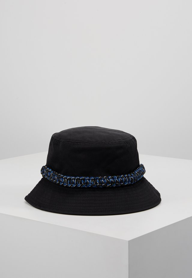 ROPE TRIM BUCKET HAT - Kapelusz - black