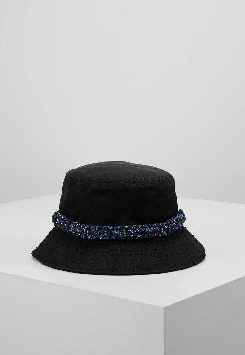 Hikari - ROPE TRIM BUCKET HAT - Kapelusz - black