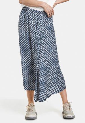 A-line skirt - dusty blue/ rose druck