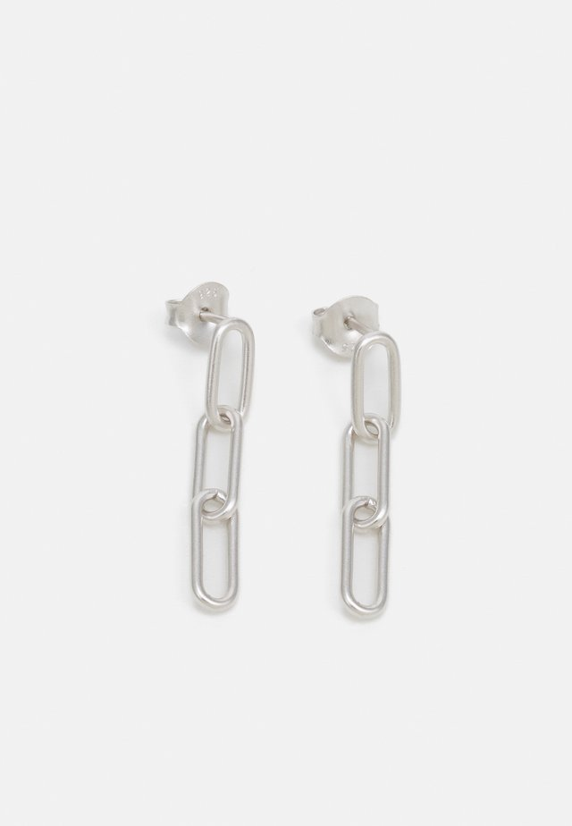 LINK TRIPLE EARSTUDS - Øreringe - silver-coloured