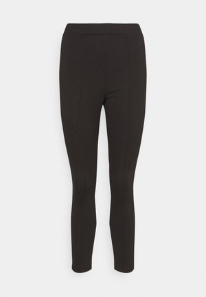PONTE SLIM LEG TROUSER - Leggings - Trousers - black