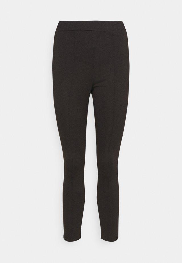 PONTE SLIM LEG TROUSER - Leggingsit - black