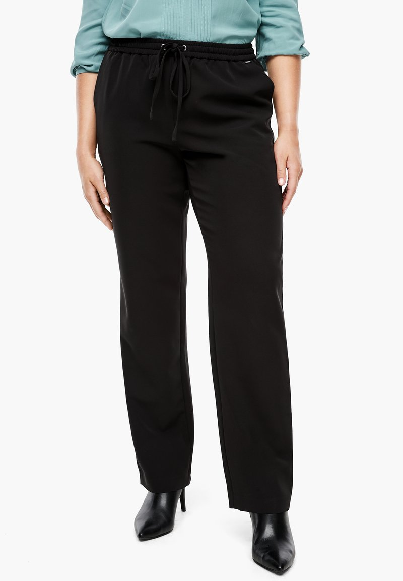 Triangle - REGULAR FIT - Trousers - black