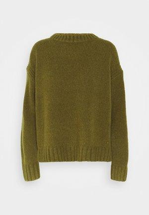 LONGSLEEVE ROUND NECK - Jersey de punto - olive green melange