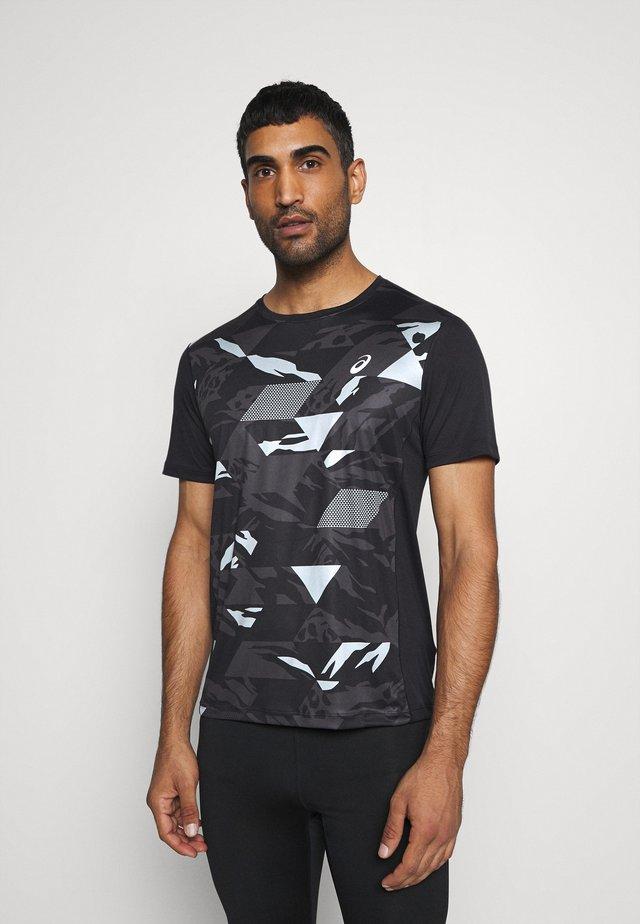 FUTURE CAMO - T-shirt z nadrukiem - performance black