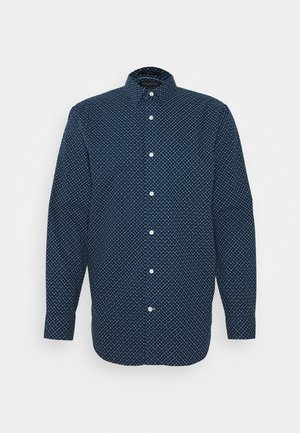 SQUARE PRINT - Shirt - dark blue