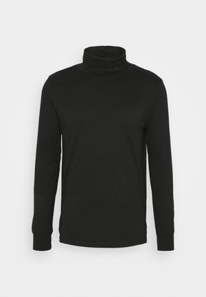 MENS ROLL NECK - Long sleeved top - black