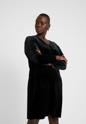 XDULI WRAP DRESS - Shift dress - black