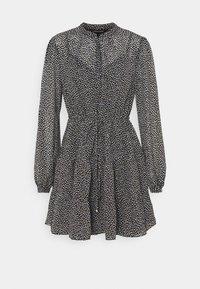 DRAWCORD SMOCK DRESS - Shirt dress - black