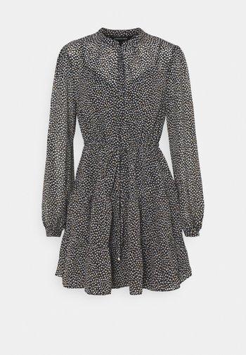DRAWCORD SMOCK DRESS - Skjortekjole - black