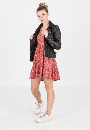 MILA - Leather jacket - schwarz