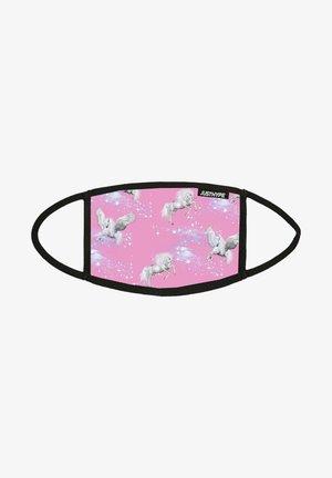 Stoffmaske - pink/white