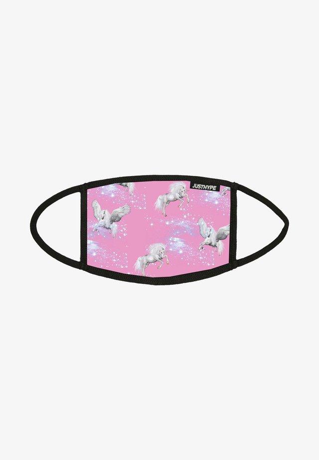 Stoffen mondkapje - pink/white