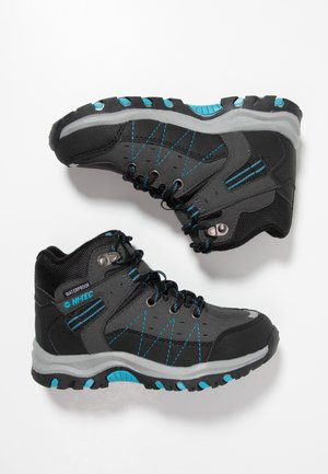 SHIELD WP - Hiking shoes - dark grey/black/lake blue