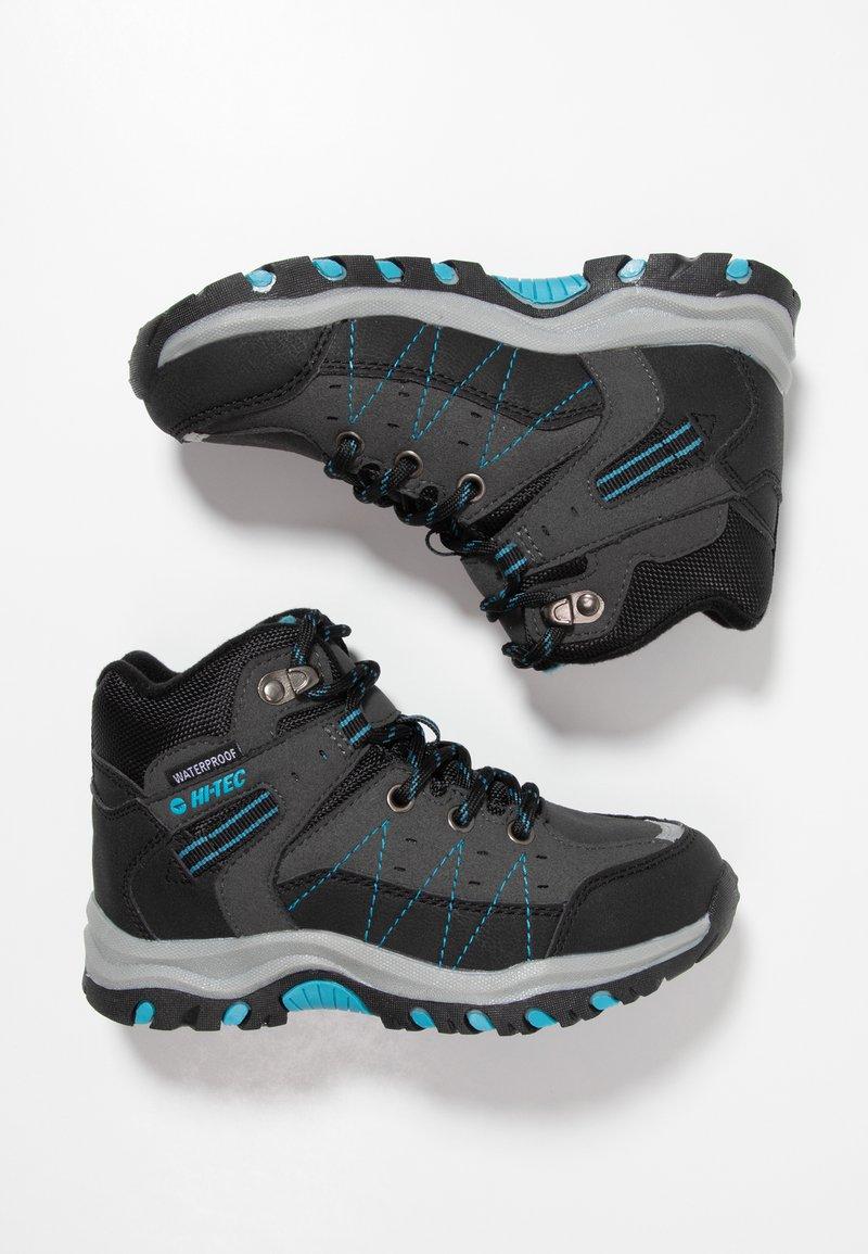 Hi-Tec - SHIELD WP - Chaussures de marche - dark grey/black/lake blue