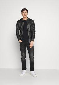 Oakwood - CORP - Leather jacket - noir - 1