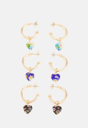 PCHIERT EARRINGS 3 PACK - Earrings - gold color/navy blue