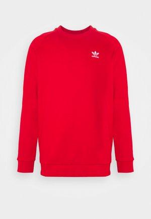 ESSENTIAL CREW UNISEX - Sweatshirt - scarlet/white