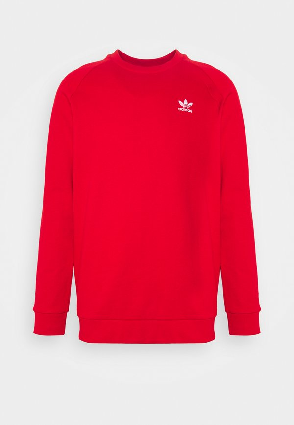 adidas Originals ESSENTIAL CREW - Bluza - scarlet/white/czerwony Odzież Męska AXJK