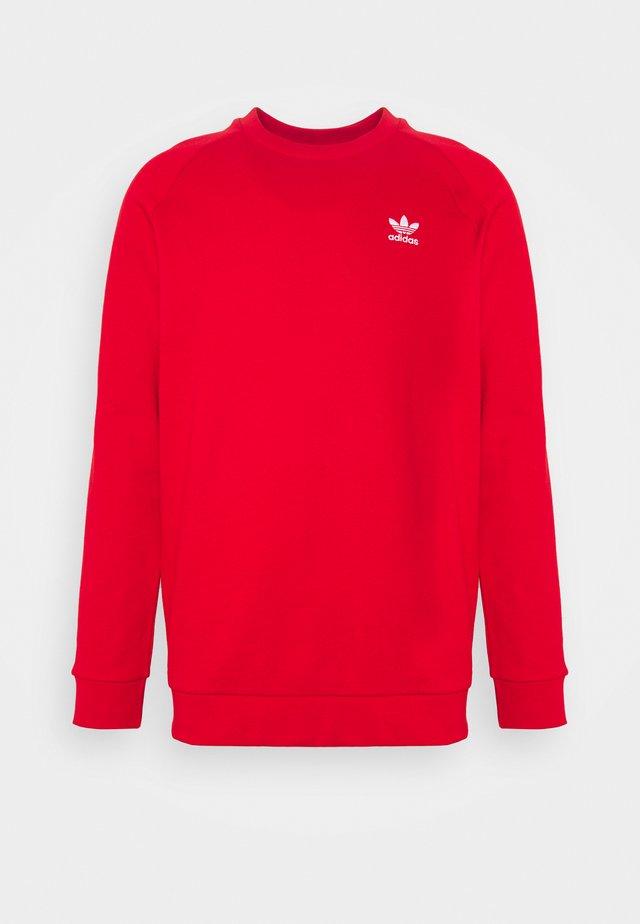 ESSENTIAL CREW UNISEX - Bluza - scarlet/white