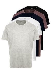 Burton Menswear London - B&T 5 MULTIPACK TEE - T-shirt basique - multi-coloured - 0