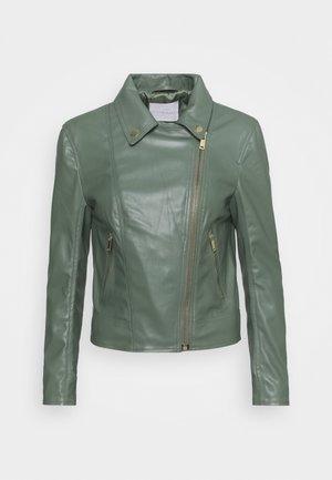 BIKER JACKET - Faux leather jacket - eukalyptus