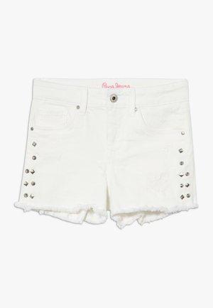 ELSY BLING - Short en jean - white