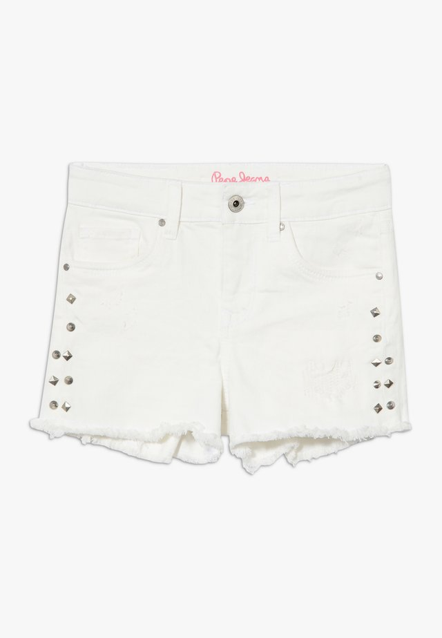 ELSY BLING - Denim shorts - white
