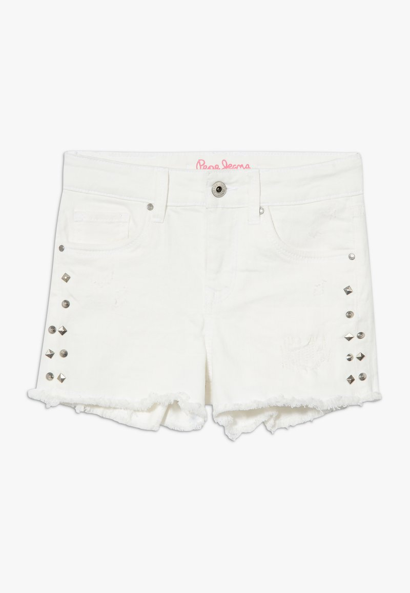 Pepe Jeans - ELSY BLING - Szorty jeansowe - white