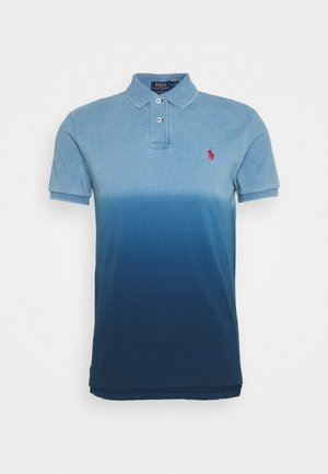 Koszulka polo - indigo dip dye