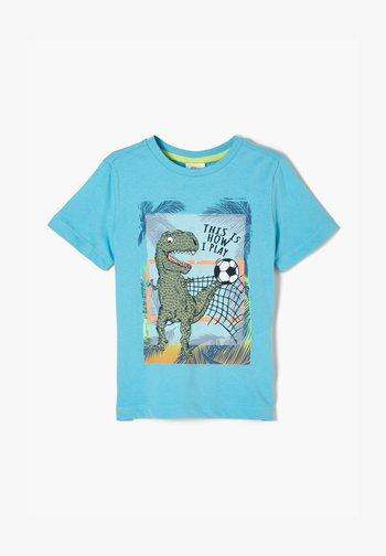 T-shirt con stampa - aqua