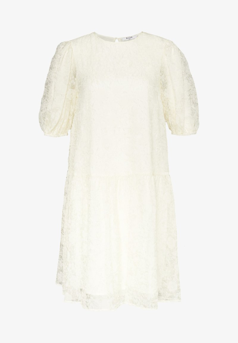 NA-KD - PUFF SLEEVE DRESS - Cocktail dress / Party dress - offwhite