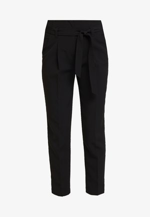 MILLER TIE WAIST TROUSER - Spodnie materiałowe - black