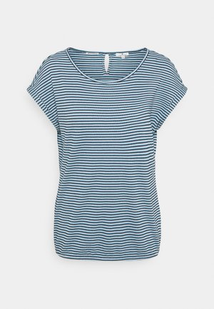 STRUCTURE STRIPE - Print T-shirt - blue/navy/popcorn