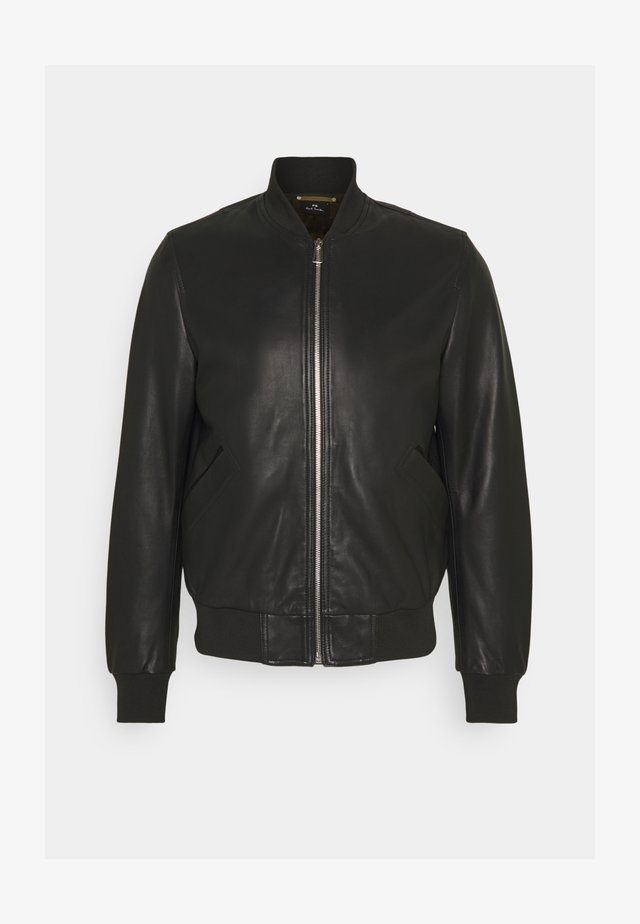 MENS BOMBER JACKET - Leather jacket - black