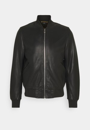 MENS BOMBER JACKET - Leren jas - black