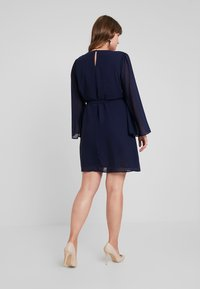 Glamorous Curve - SLEEVE BELTED MINI DRESS - Day dress - navy - 2