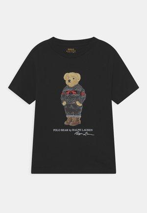 T-shirt z nadrukiem - polo black