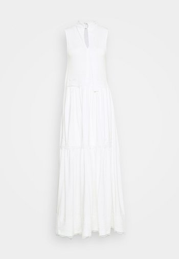 TIER DRESS - Maxi dress - chalk white