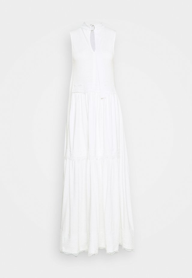 TIER DRESS - Vestito lungo - chalk white
