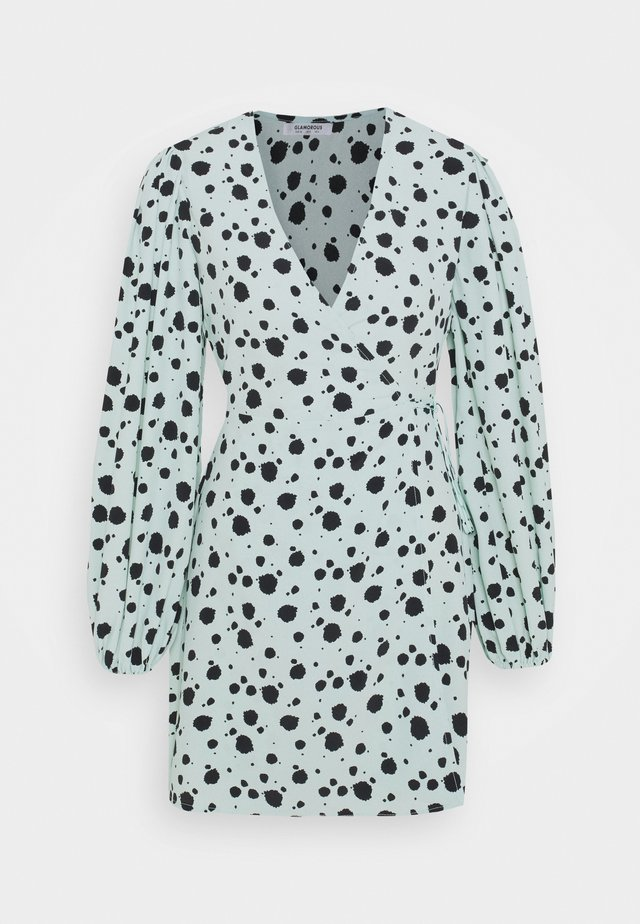 Vestido informal - mint paint splatters