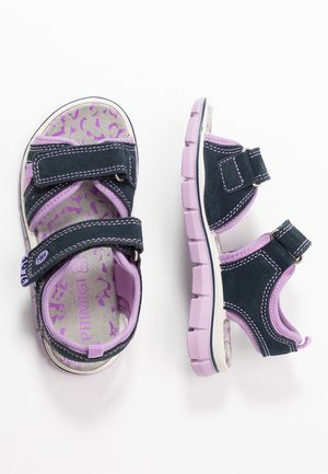 Walking sandals - navy/lilac