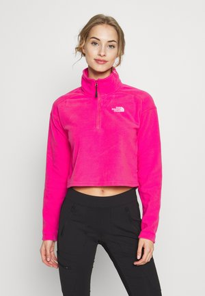 GLACIER CROPPED ZIP - Fleece jumper - mr. pink